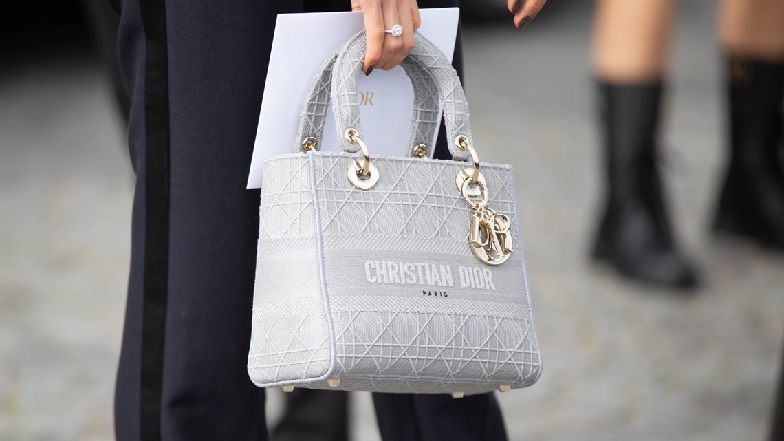 Luxury Bags: Christian Dior Medium Lady D-Lite Bag