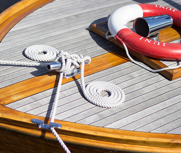 Deck of a luxury boat