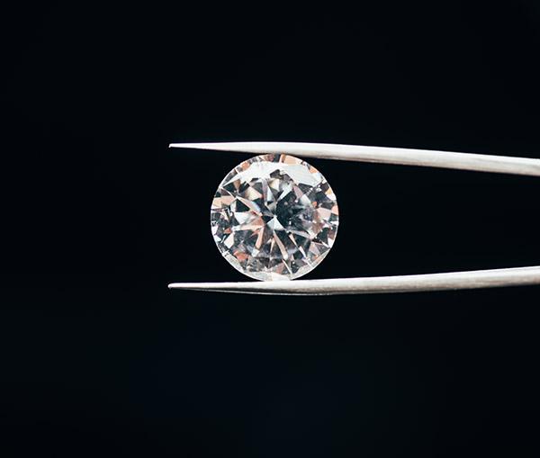Beautiful loose diamond sparkling.